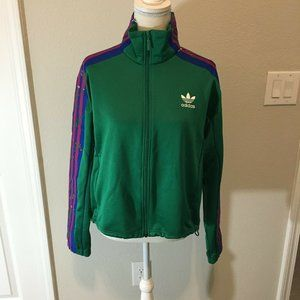 Adidas Womens Green Pink Blue jacket Size M NWT